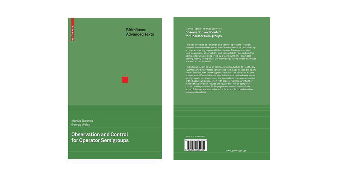 "Book ""Observation and Control for Operator Semigroups"" by Tucsnak Marius and George Weiss"